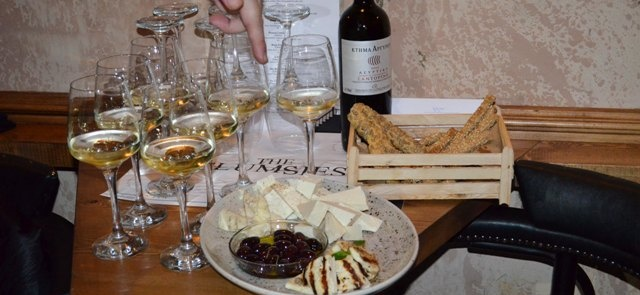 Wine and food tasting at The Clumsies for Travel Bloggers Greece