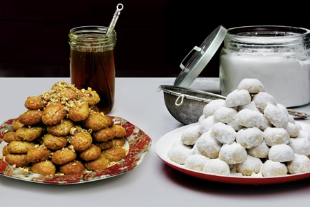 greek christmas pastry recipes for kourabiedes and melomakarona - Greek Christmas Food
